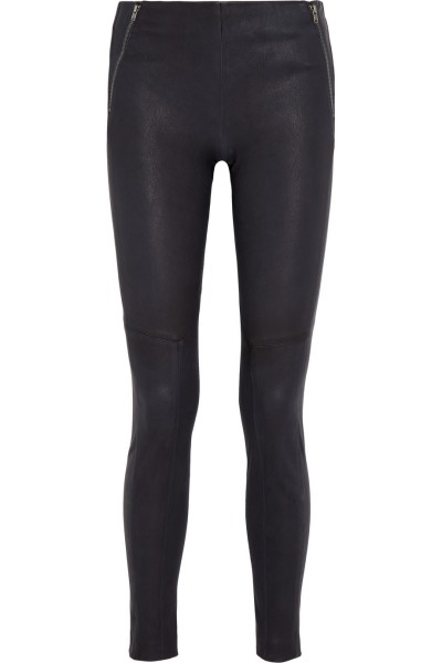 theory stretch leather pant