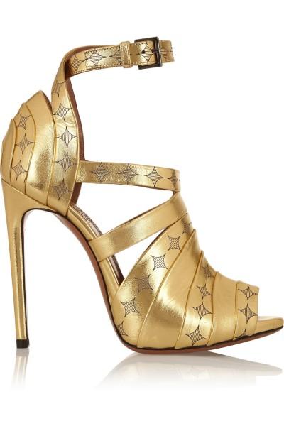 alaia gold print sandal