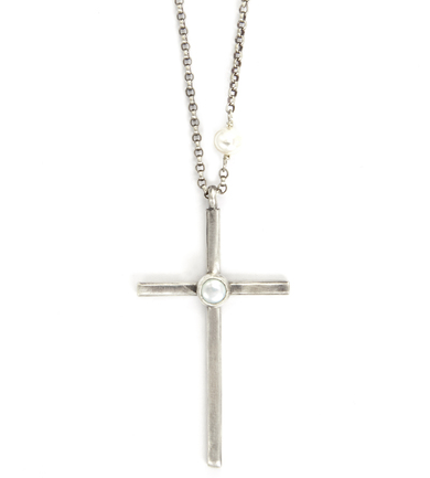 pearl and cross necklace