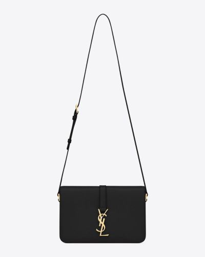 saint laurent leather monogramme bag
